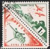 Monaco SG D478a 1954 Postage Due 2 x 1f se-tenant pair good/fine used